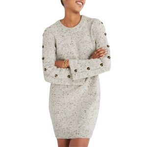 Madewell NWT Donegal Button Sleeve Sweater Dress